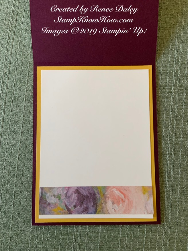 Inside view of the Beautiful Friendship Birthday Card