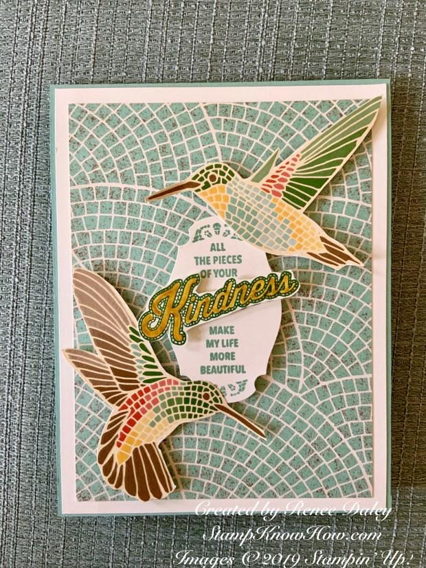 Mosaic Mood Hummingbird Card
