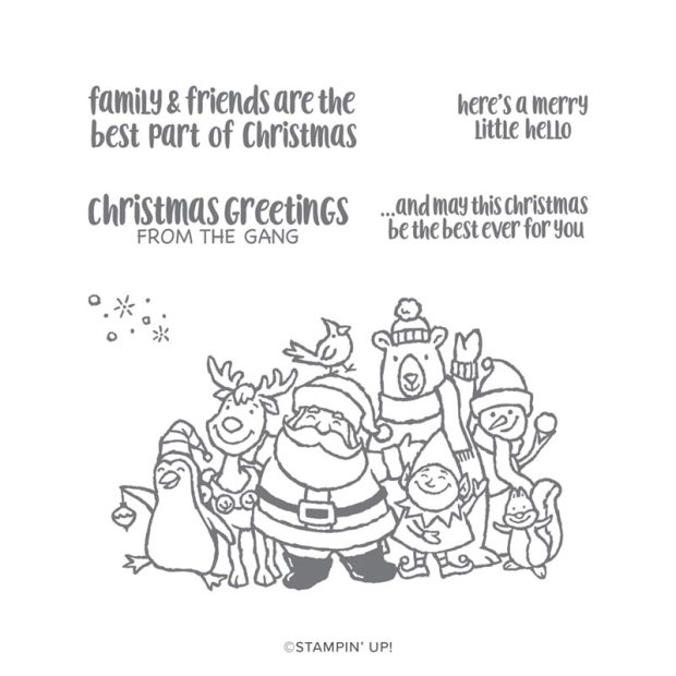 Stampin' Up Christmas Crowd Stamp Set