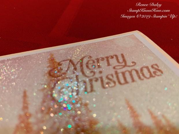Feels Like Frost Glitter Card Closeup image