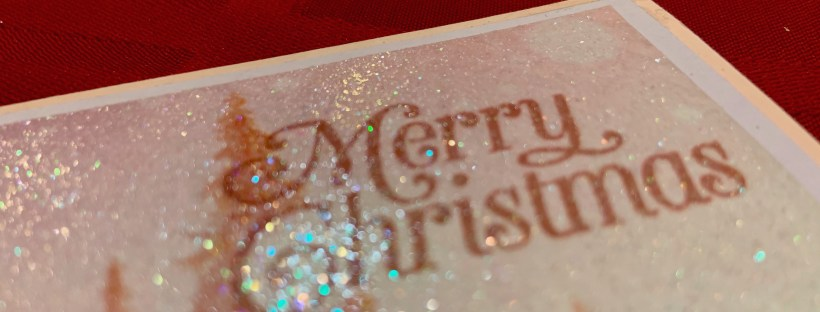 Feels Like Frost Glitter Card Closeup image