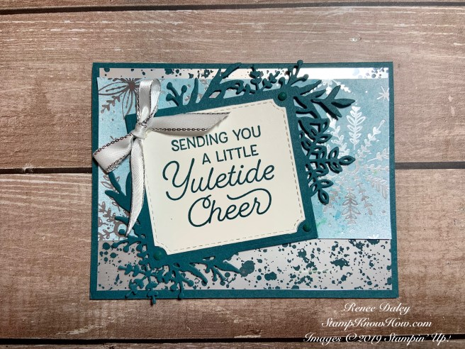 Frosted Foliage Bundle Card