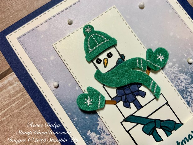 Image of the Lots of Cheer Snowman Card Closeup