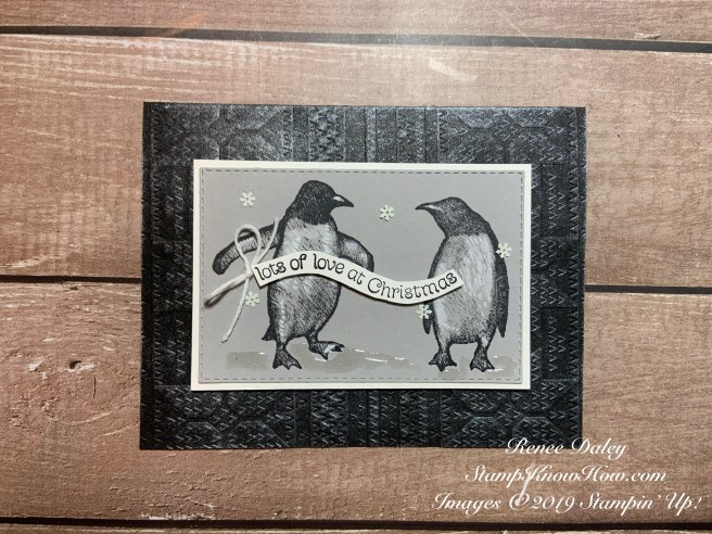 Image of Playful Penguins Christmas Card made by Renee Daley from StampKnowHow.com