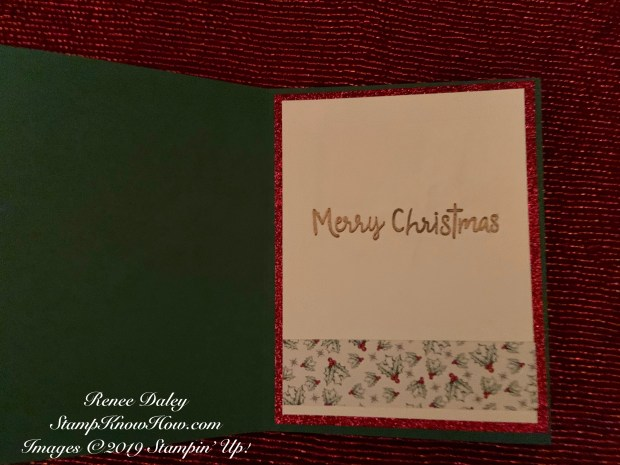 image of the inside of Wrapped in Plaid Christmas Present Card