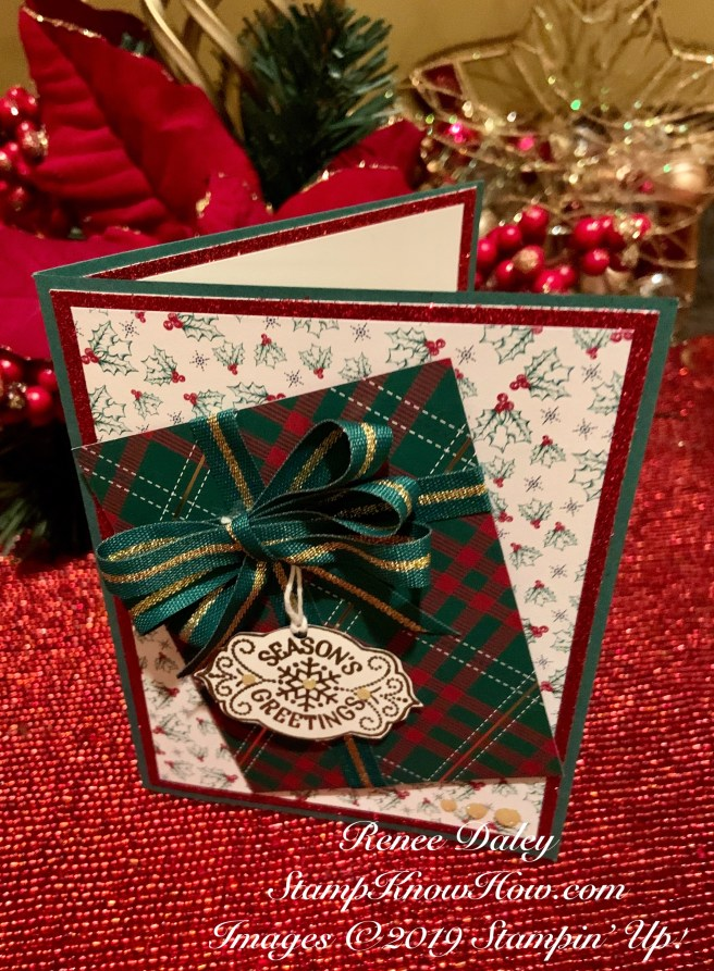 image of the Wrapped in Plaid Christmas Present Card