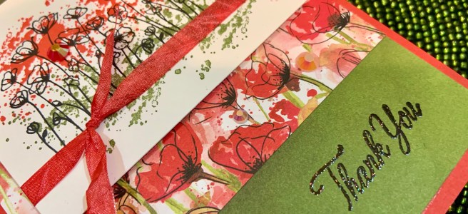 Thank You Card featuring Painted Poppies stamp set