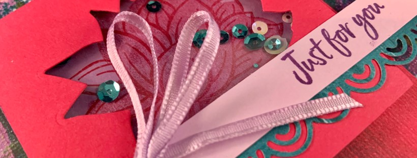 Close up image of Lovely Lily Pad Shaker Card