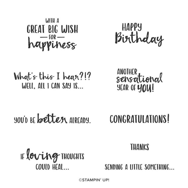 Sending You Thoughts Sale-a-Bration Stamp Set by Stampin Up