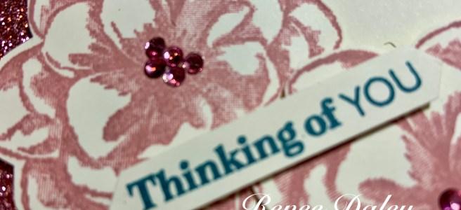 Sentimental Rose Paper Pumpkin Alternative Card - closeup view