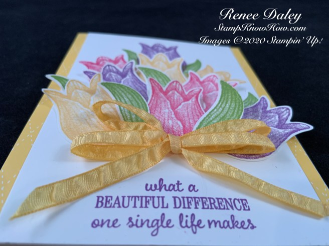 Closeup Image of the Timeless Tulips Spring Bouquet Card