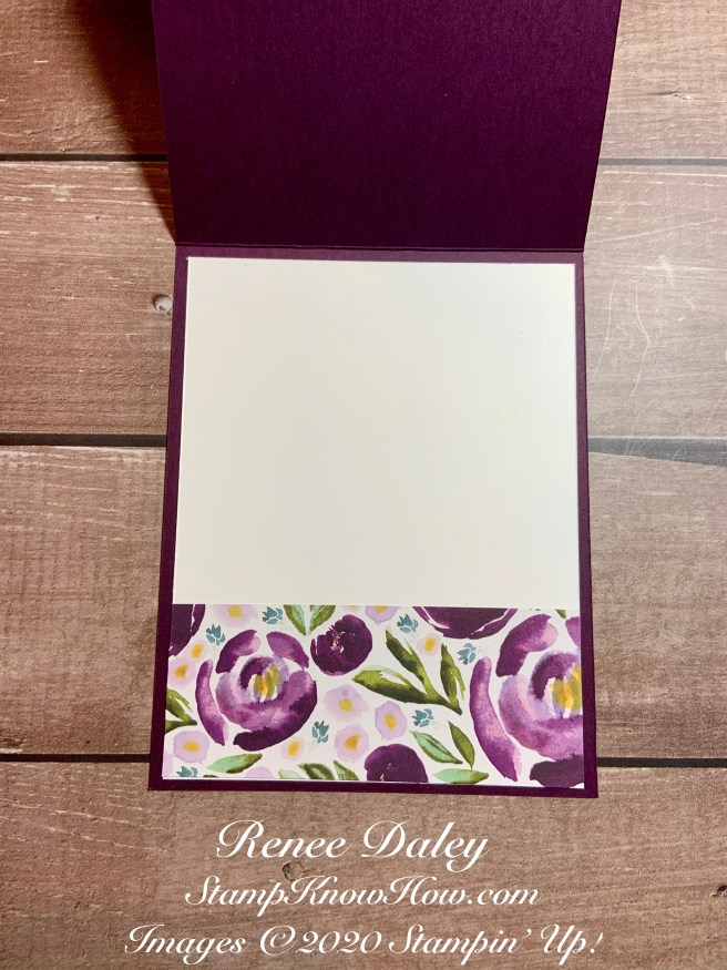 Inside view of the Best Dressed Card