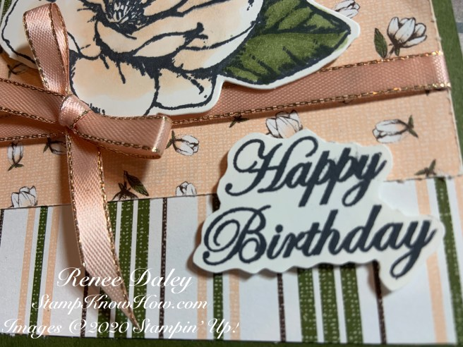 Close up image of Good Morning Magnolia Birthday Card
