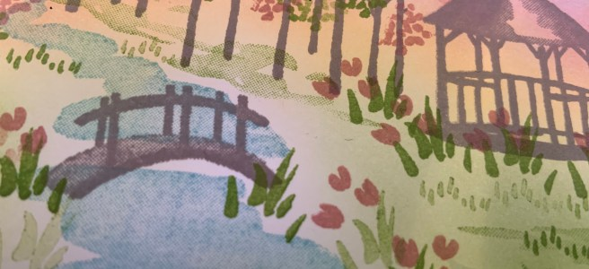 Close up image of My Meadow Hello Card