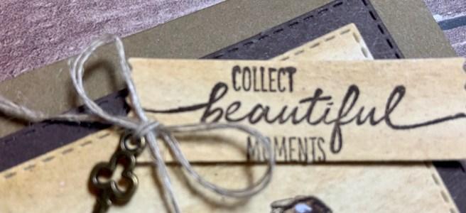 Beautiful Moments Card Closeup of sentiment