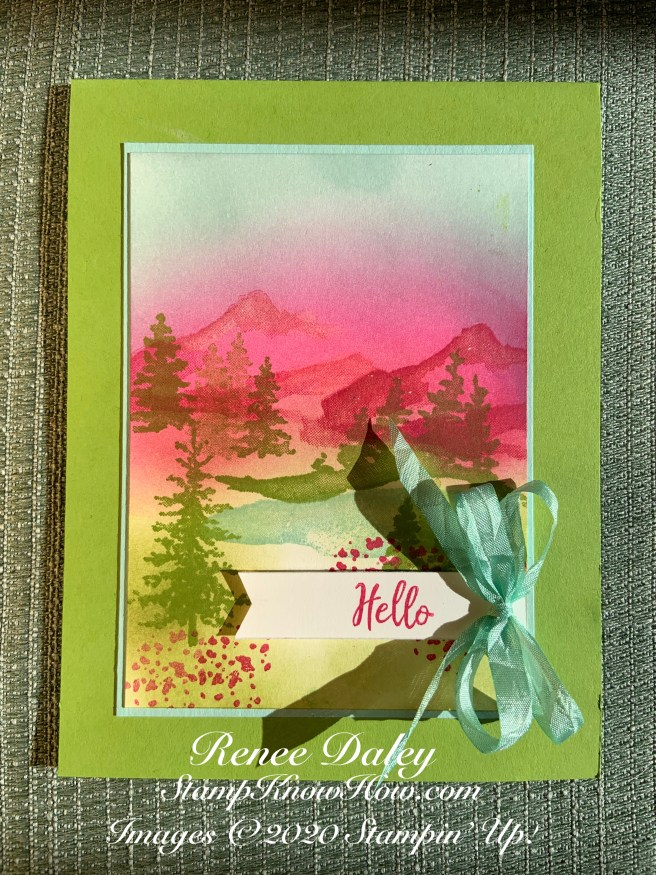 Snow Front Hello Card