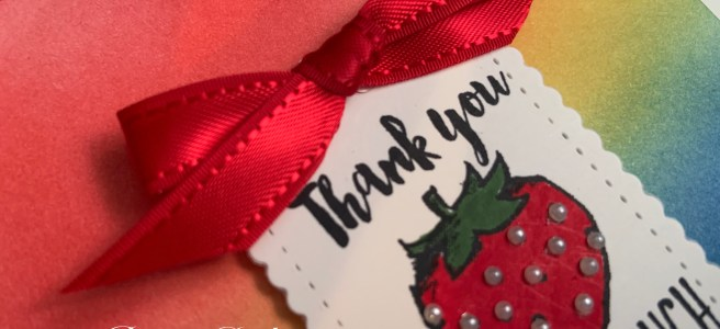Closeup image of Witty-cisms thank you card