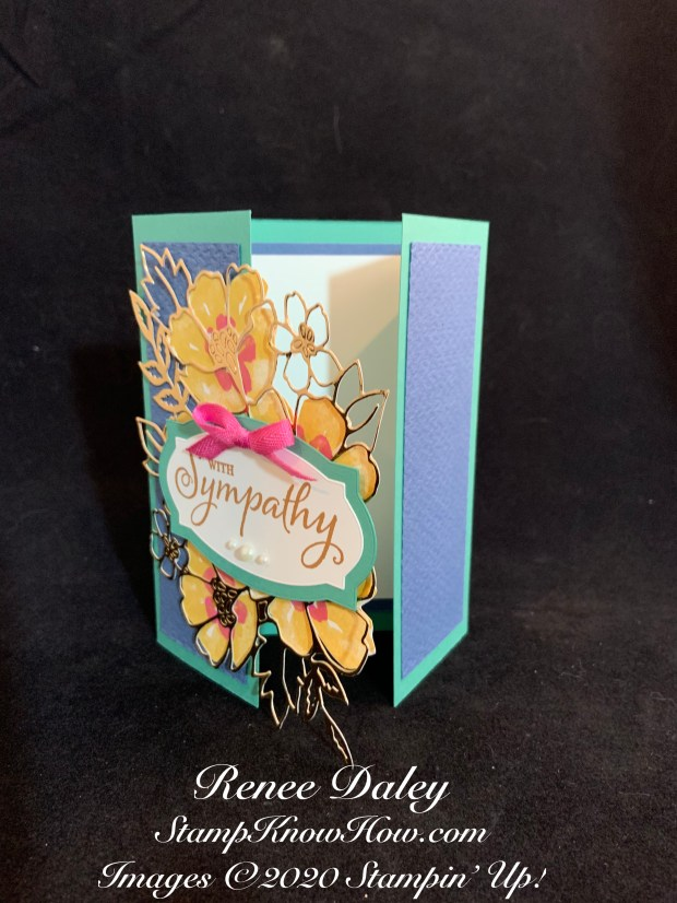 Blossoms in Bloom Gatefold Sympathy Card Image
