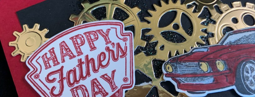 Geared Up Garage Father's Day Card Close up image