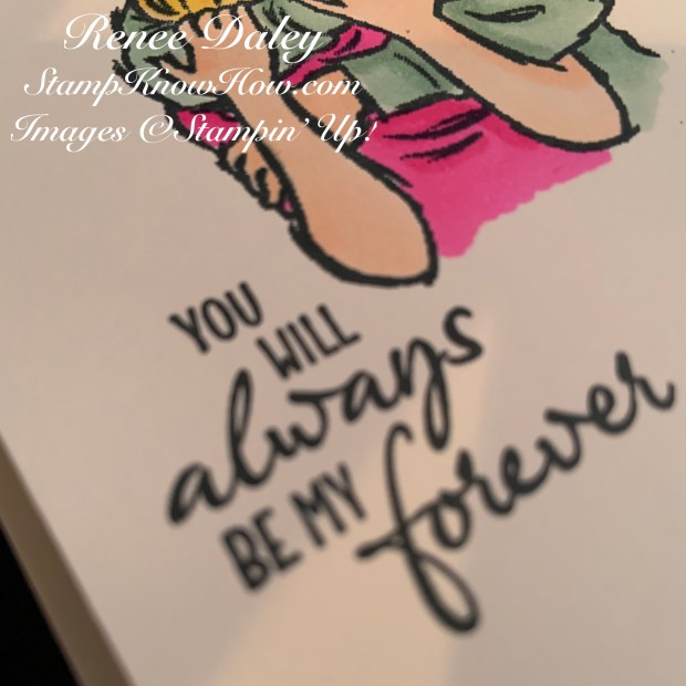 Close up image of the Stampin' Up Embrace Each Moment Stamp