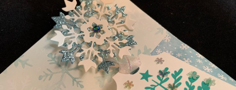 Close up image of Everything Essential Snowflake Gift Bag