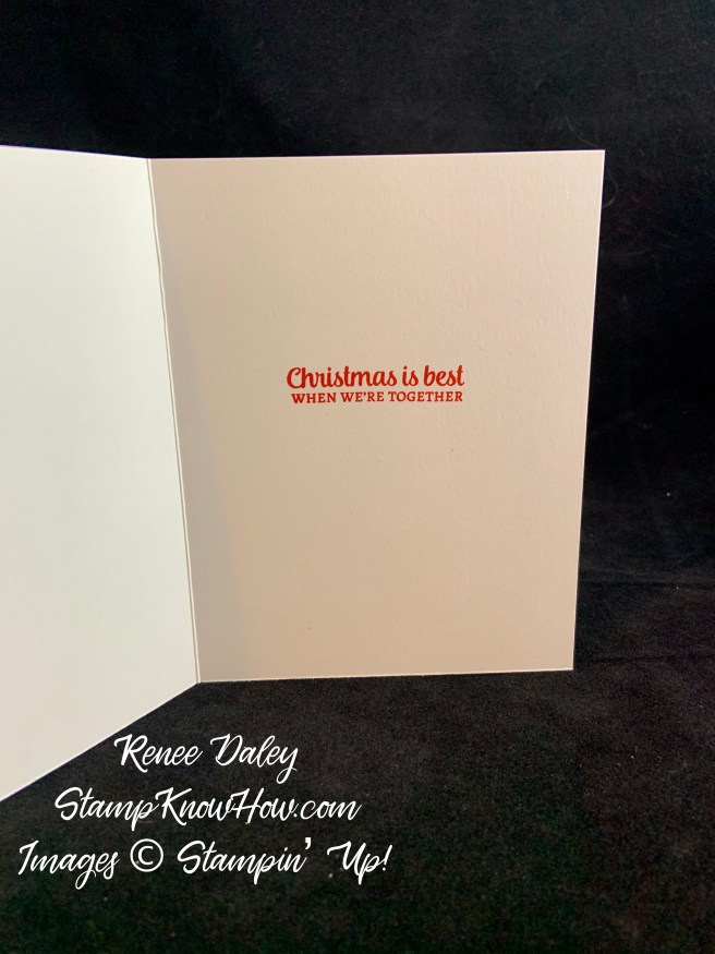 Tree Angle Poinsettia Christmas Card