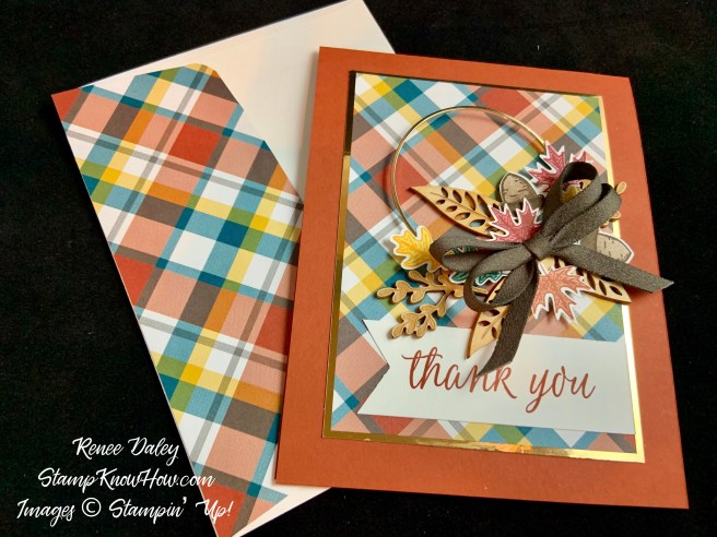 Beautiful Autumn Thank You Card
