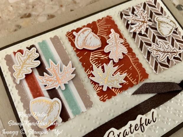 Gilded Autumn Thanksgiving Card