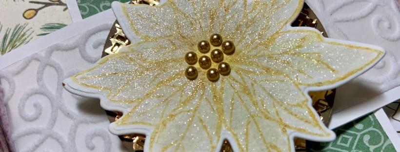 Poinsettia Petals Christmas Card Closeup image