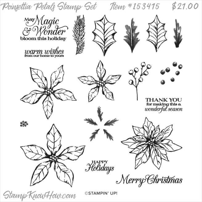 Poinsettia Petals Photopolymer Stamp Set by Stampin' Up