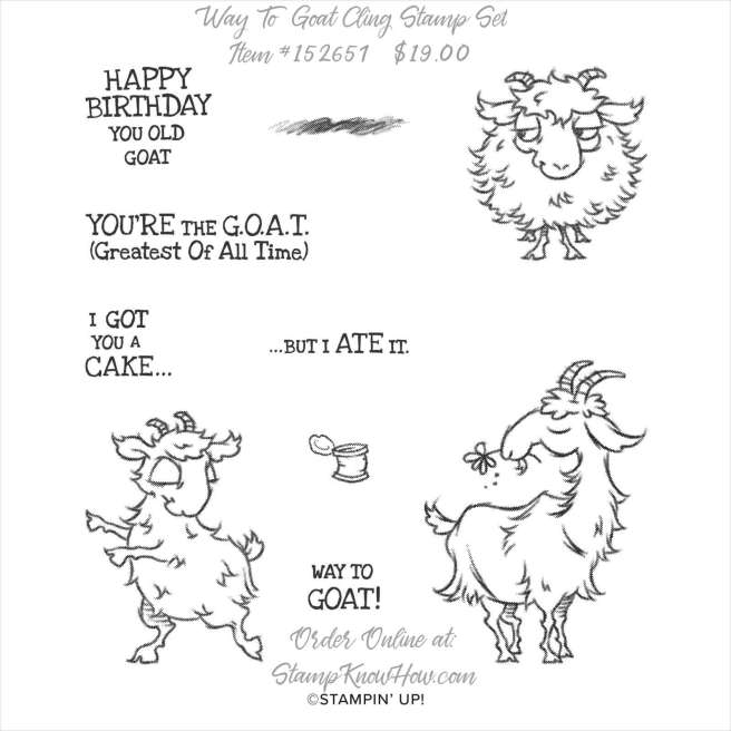 Stampin' Up Way to Goat Cling Stamp Set