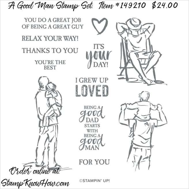 Stampin Up A Good Man Stamp Set