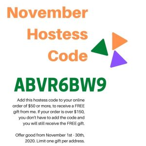 Stampin Up November 2020 Hostess Code for StampKnowHow.com