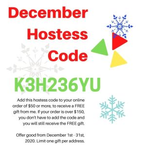 December 2020 Hostess Code for StampKnowHow