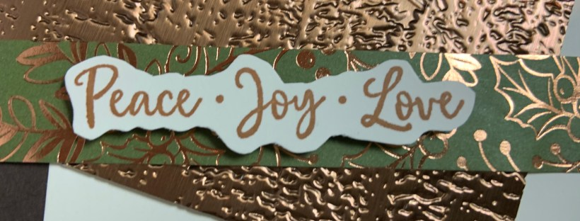 Closeup image of the sentiment on the Dove of Hope Christmas Card