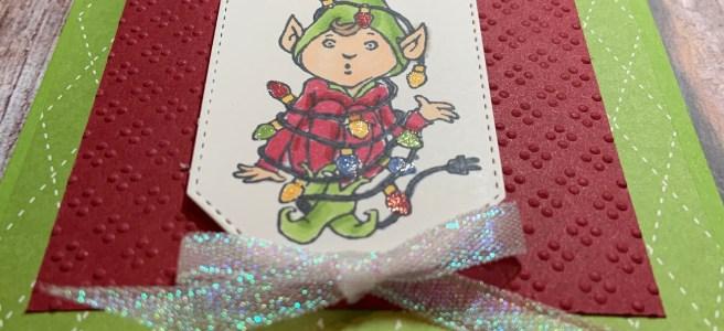 Tangled Elf Christmas Card