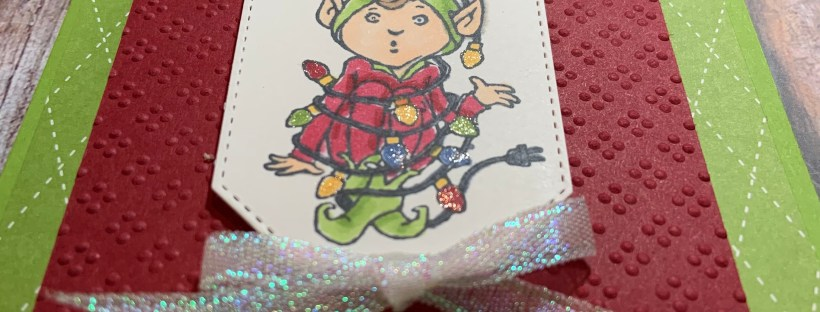 Tangled Elf Christmas Card