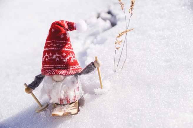 dwarf gnome on snow