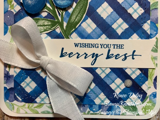 Berry Blessings Bundle Card Close up image