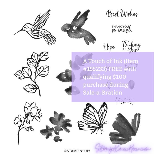 A Touch of Ink Stamp Set from Stampin' Up Sale-a-Bration 2021