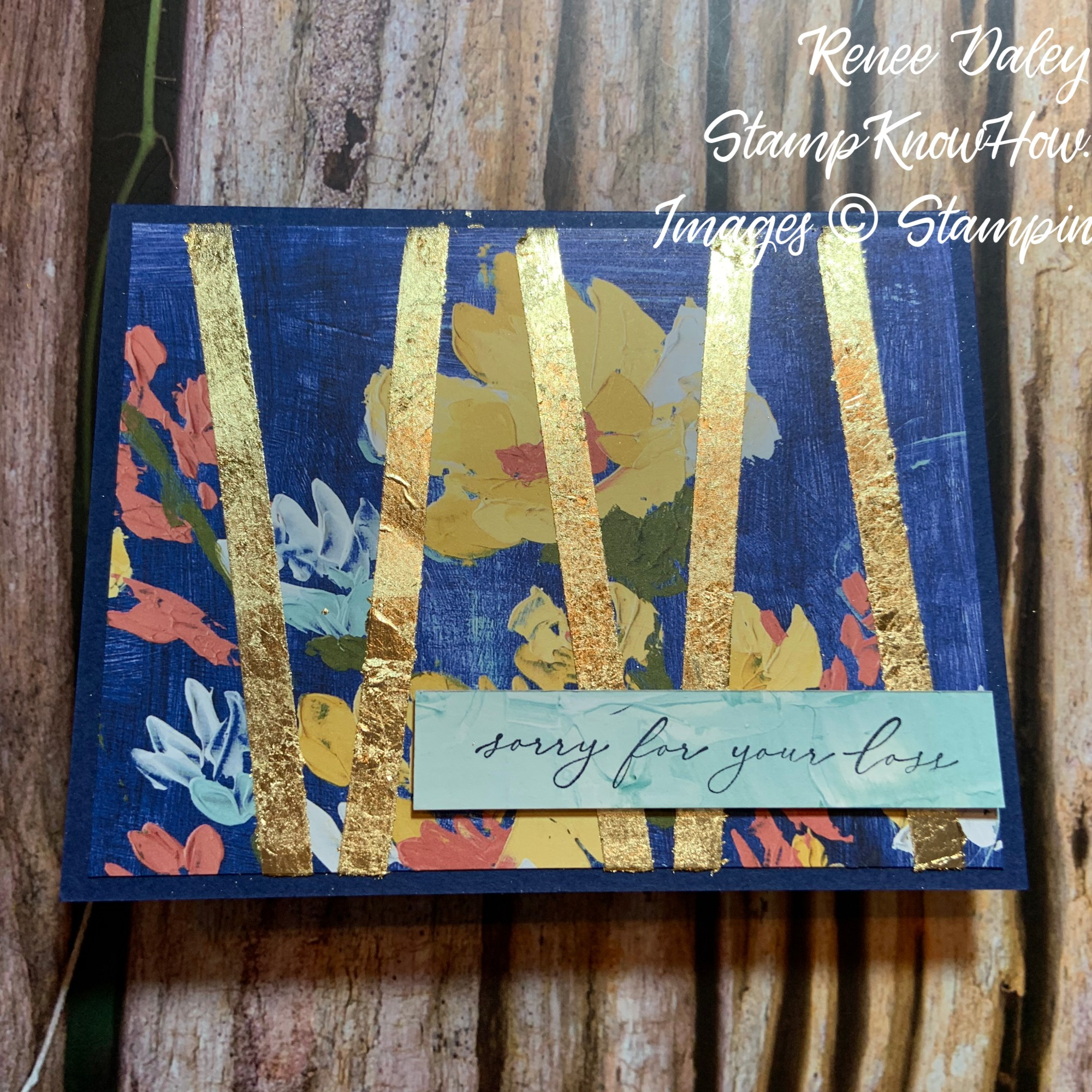 Fine Art Floral Sympathy Cards with Gilding Flakes