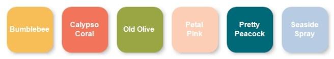 Stampin Up March 2021 Paper pumpkin kit Color Palette