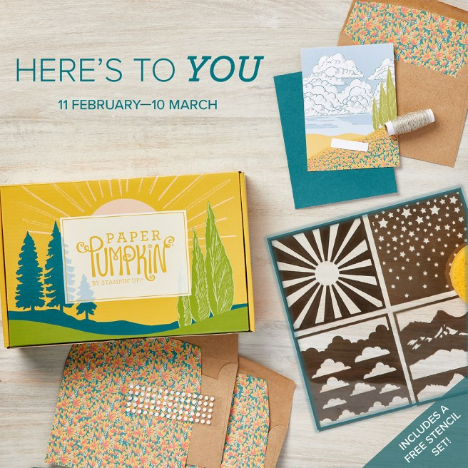 March 2021 Paper Pumpkin Kit: Here's to You
