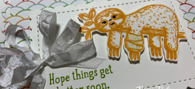 Image of Sloth Get Well Card made with the Stampin' Up Back On Your Feet Stamp Set