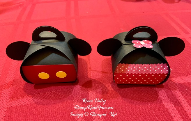 Mickey & Minnie Mouse Curvy Treat boxes