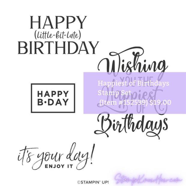 Stampin' Up Happiest of Birthdays Stamp Set image