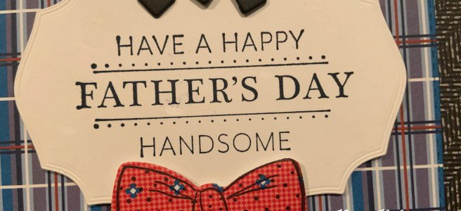 Handsomely Suited Bundle Father's Day Card close up image