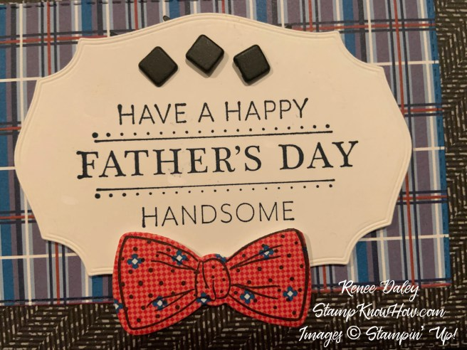 Well Suited Suite Father's Day Card close up image