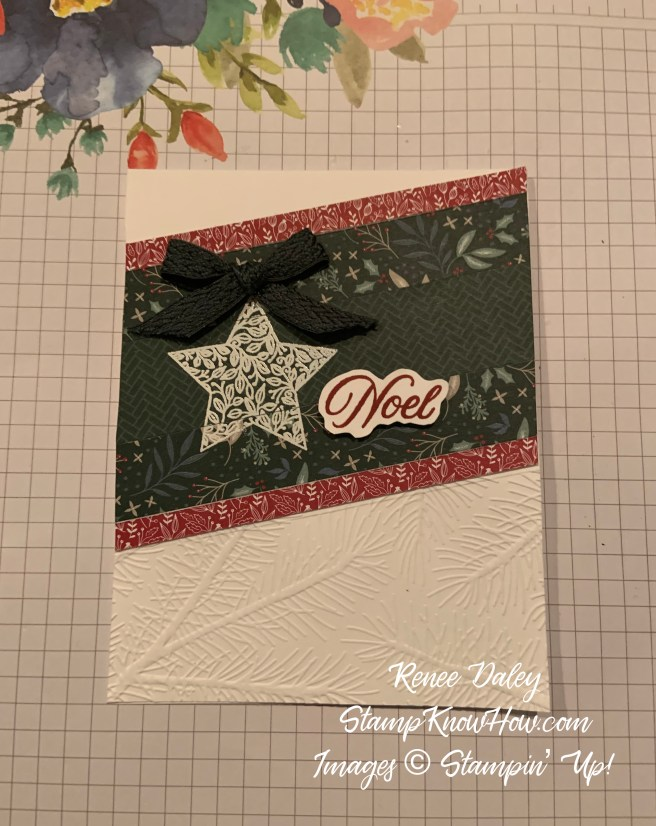 Tidings & Trimmings Christmas Card using products from Stampin' Up
