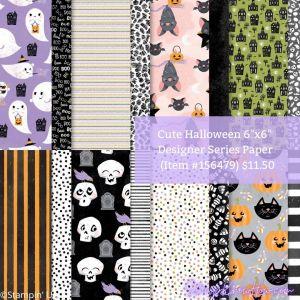 Stampin Up Cute Halloween 6x6 Designer Series Paper